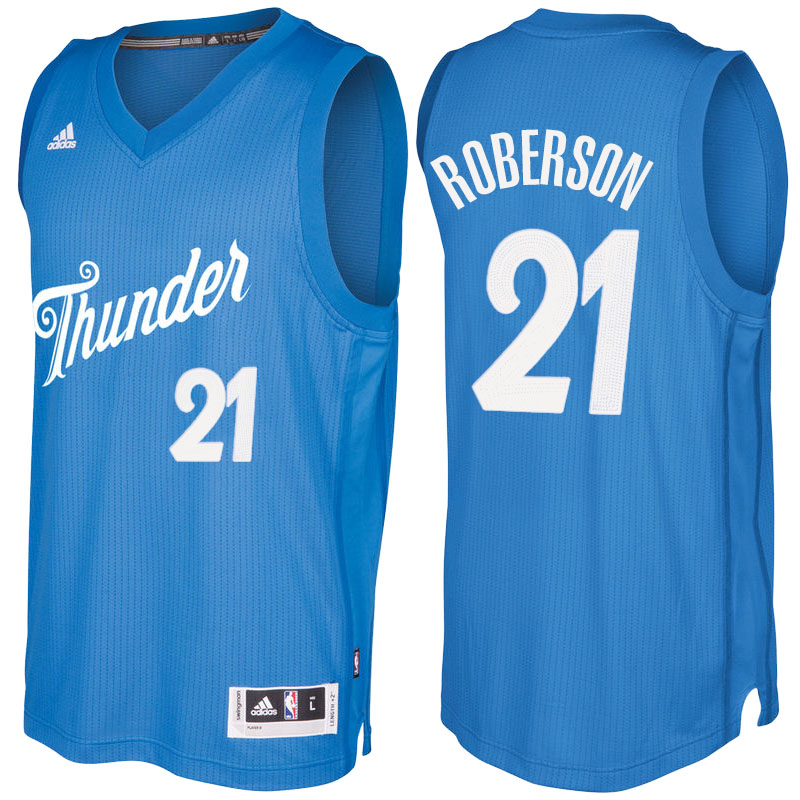 Maglie Basket Oklahoma City Thunder Natale 2016 andre roberson 21 Blu