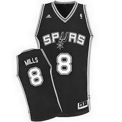 canotta nba patty mills 8 san antonio spurs rev30 nero