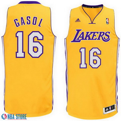 maglia pau gasol 16 los angeles lakers rev30 giallo