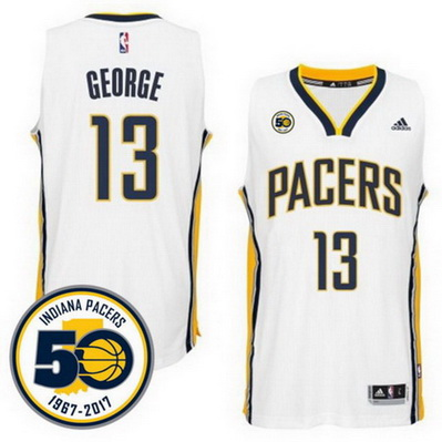 maglia basket paul george 13 2017 indiana pacers bianca