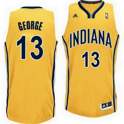 maglia nba paul george 13 indiana pacers rev30 giallo