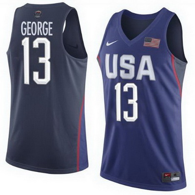 canotta uomo basket paul george 13 nba usa olimpiadi 2016 blu