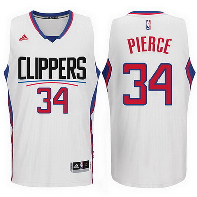 maglia paul pierce 34 2016 los angeles clippers bianca
