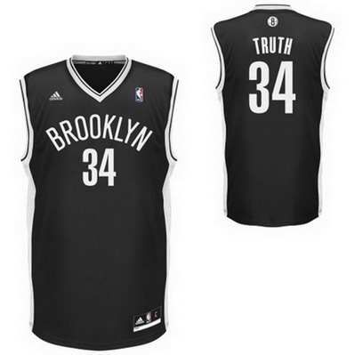 canotta nba paul pierce 34 brooklyn nets rev30 nero