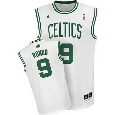 canotta basket rajon rondo 9 boston celtics rev30 bianca