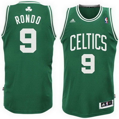 maglia nba rajon rondo 9 boston celtics rev30 verde