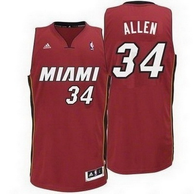 canotta nba ray allen 34 miami heat rev30 rosso