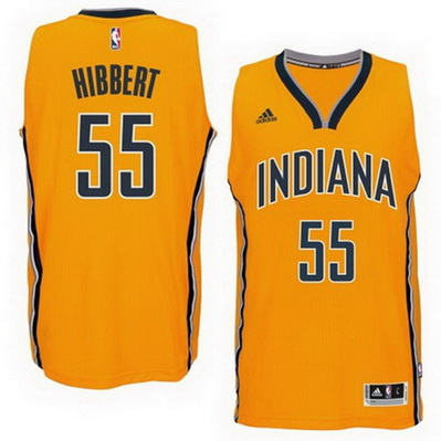 maglia roy hibbert 55 2015 indiana pacers giallo