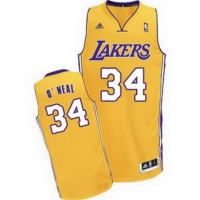 maglia basket shaquille o'neal 34 los angeles lakers giallo