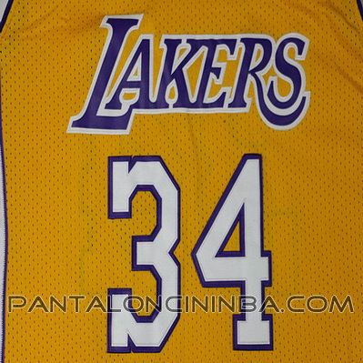 ... maglia basket shaquille o neal 34 los angeles lakers giallo ... 7966170355f8