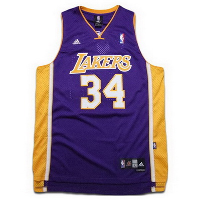 canotta basket shaquille o'neal 34 los angeles lakers porpora