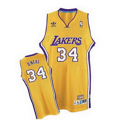 maglia nba shaquille o'neal 34 retro los angeles lakers giallo