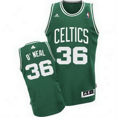 maglia basket shaquille o'neal 36 retro boston celtics verde