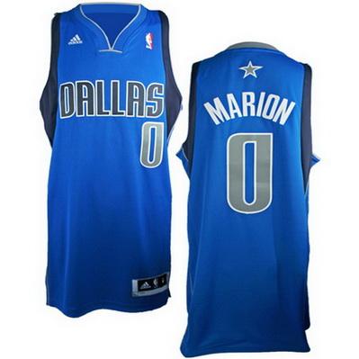 maglia shawn marion 0 dallas mavericks rev30 blu