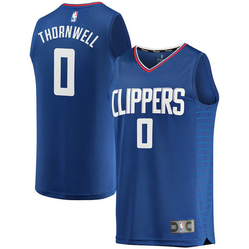 canotta nba Sindarius Thornwell 0 2018-2019 los angeles clippers blu