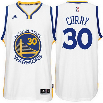 maglia nba stephen curry 30 2015 golden state warriors bianca