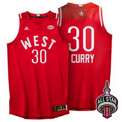 canotta basket stephen curry 30 nba all star 2016 rosso