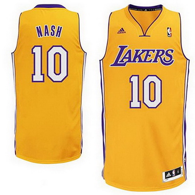 canotta uomo steve nash 10 los angeles lakers giallo