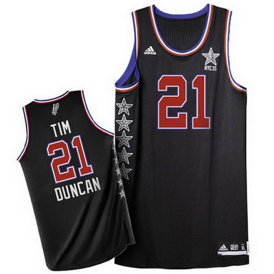 canotte basket tim duncan 21 nba all star 2015 nero