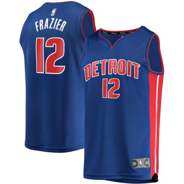 maglia basket Tim Frazier 12 2020 detroit pistons blu