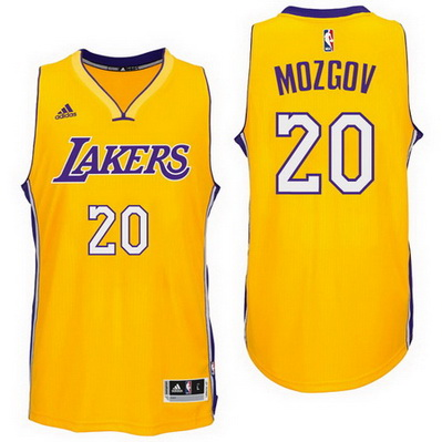 maglia nba timofey mozgov 20 2016 los angeles lakers giallo