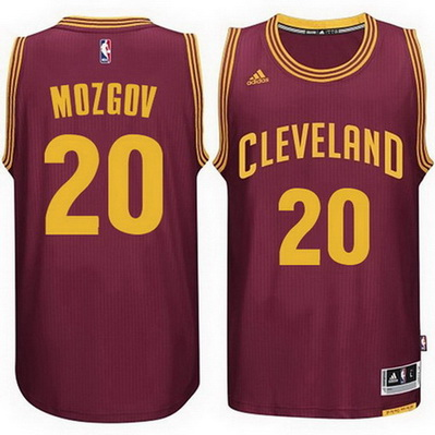 maglia basket timofey mozgov 20 2015 cleveland cavaliers rosso