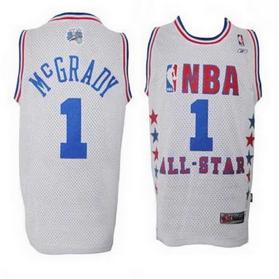 maglia uomo tracy mcgrady 1 nba all star 2003 bianca