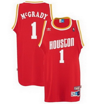 maglia nba tracy mcgrady 1 retro houston rockets rosso