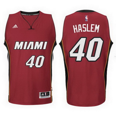 maglia nba udonis haslem 40 2015 miami heat rosso