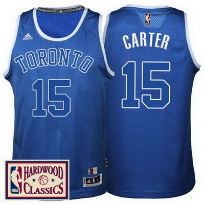 Toronto Blu Canotta 15 Carter Vince 2017 Divisa Raptors 2WED9HI