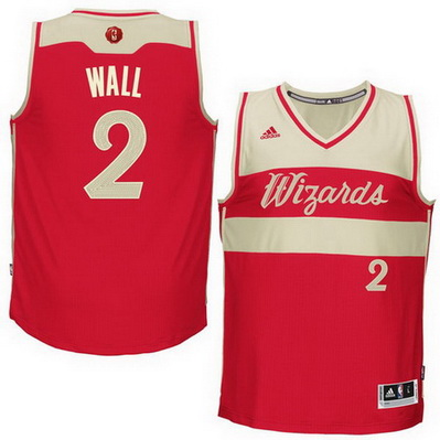 canotte nba washington wizards natale 2015 john wall 2 rosso