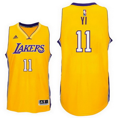 maglia nba yi jianlian 11 los angeles lakers giallo