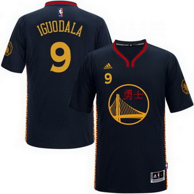 maglietta nba andre iguodala 9 2016 golden state warriors cina nero