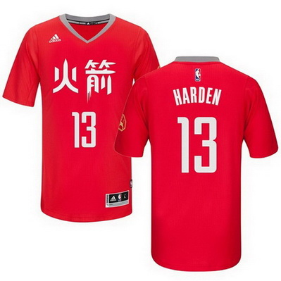 maglietta nba james harden 13 houston rockets cina rosso