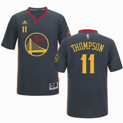 maglietta basket klay thompson 11 golden state warriors cina nero