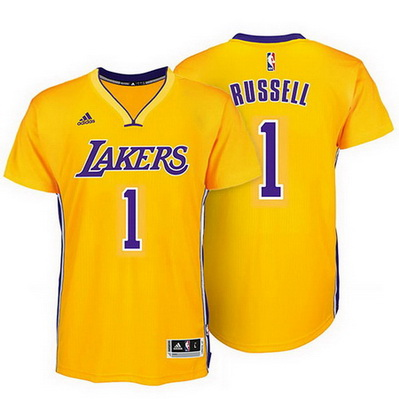 maglietta nba los angeles lakers d'angelo russell 1 rev30 giallo
