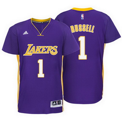 maglietta nba los angeles lakers d'angelo russell 1 rev30 porpora