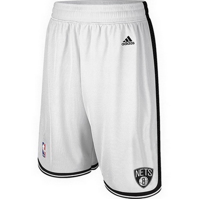 pantaloncini corti uomo basket nba brooklyn nets rev30 bianca