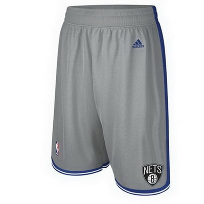 pantaloncini corti uomo basket nba brooklyn nets rev30 grigio