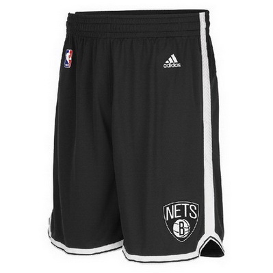 pantaloncini corti uomo basket nba brooklyn nets rev30 nero