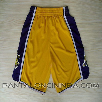 pantaloncini corti uomo basket nba los angeles lakers rev30 giallo