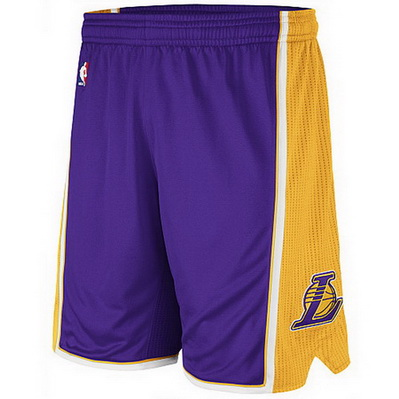 pantaloncini corti uomo basket nba los angeles lakers rev30 porpora