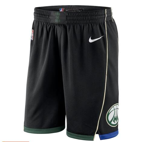 Pantaloncini corti basket Milwaukee Bucks 2018 nero