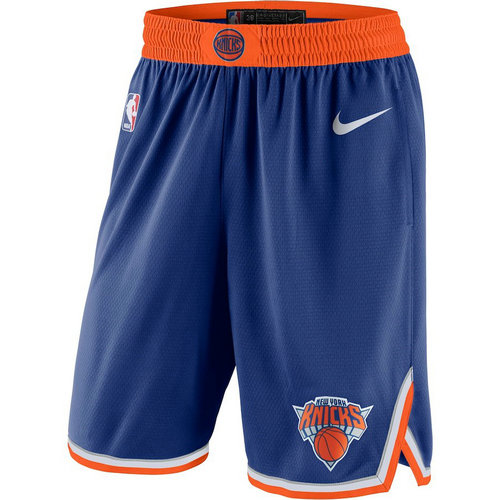 pantaloncini corti uomo basket nba new york knicks 2018 blu