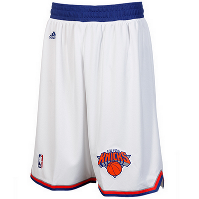 pantaloncini corti uomo basket nba new york knicks rev30 bianca