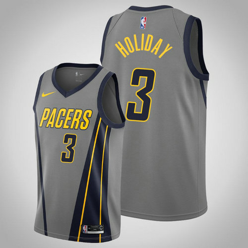 maglia Aaron Holiday 3 2018-2019 indiana pacers grigio