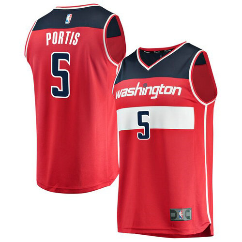 canotta Bobby Portis 5 2019 Washington Wizards rosso
