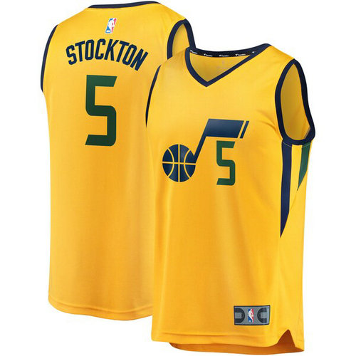 canotta David Stockton 5 2019 utah jazz giallo