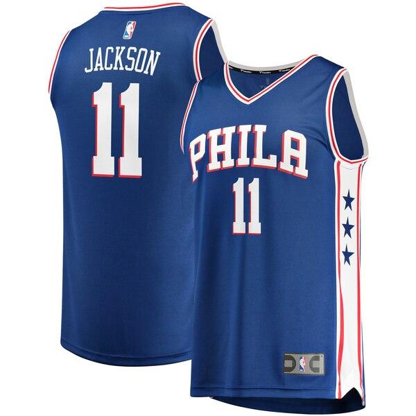 maglia demetrius jackson 11 2020 philadelphia 76ers blu