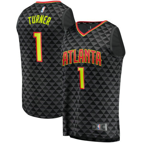 canotta basket Evan Turner 1 2019 atlanta hawks nero
